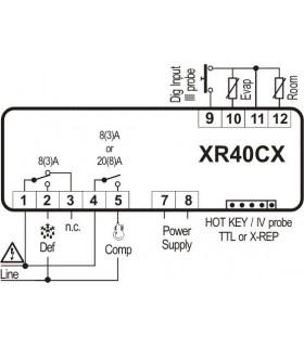 CONTROLER XR40CX 24V/8A DIXELL