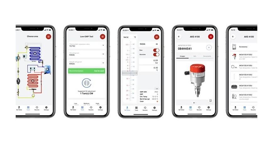 Danfoss  modifica Refrigerant Slider app